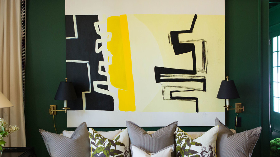 Yellow and Black Wall Art