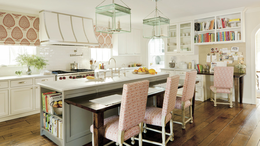 Colorfuly White Kitchen