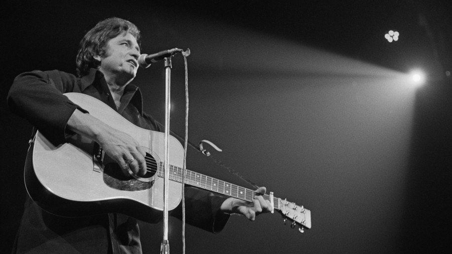 Johnny Cash Performing at the Royal Albert Hall, London, 27th September 1972
