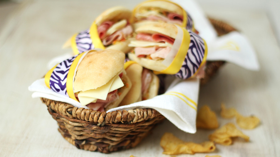 Muffuletta Sandwiches with Olive Salad
