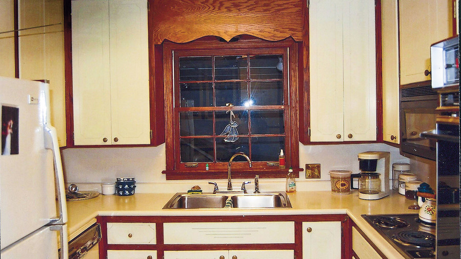 kitchen pass through window outside residence outdated rancher kitchen beforeandafter makeovers southern living