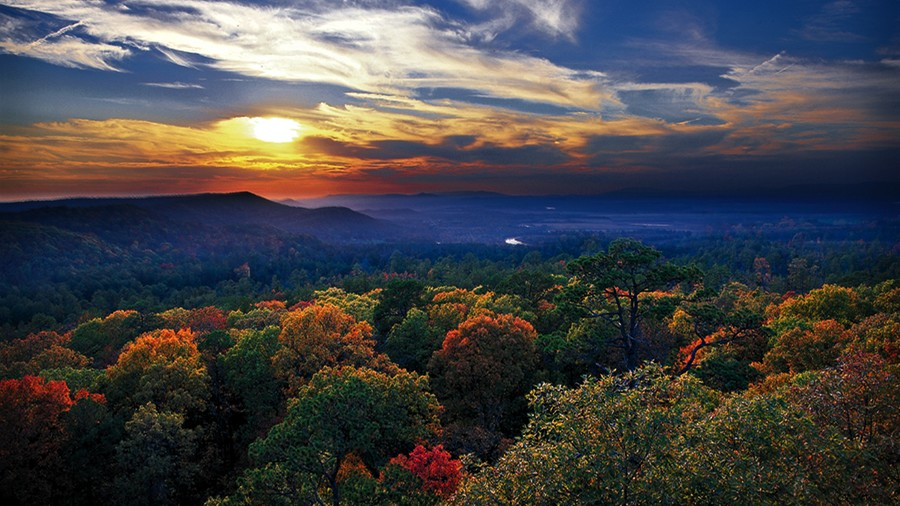 Sunset Valley in The Ozarks Fall Color