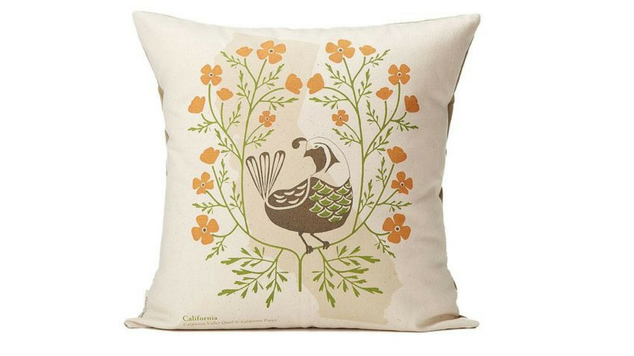Birds and Blooms Fall Throw Pillow