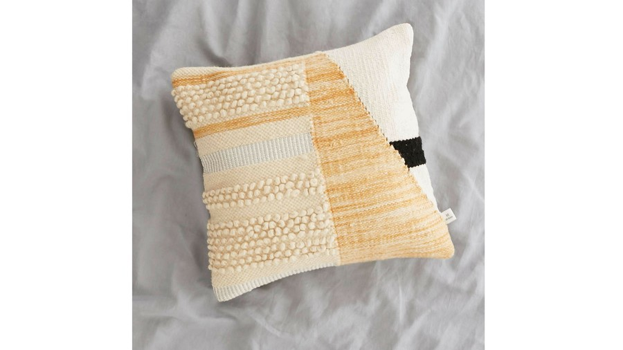 Colorblock Woven Loop Fall Throw Pillow