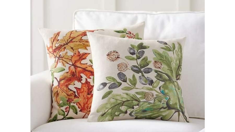 Leaf Print Pillow Covers