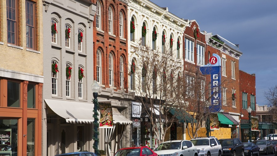 Main Street with Local Businesses