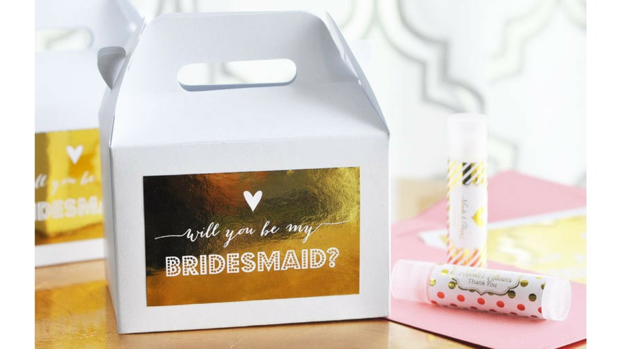 Bridesmaids Proposal Box Label