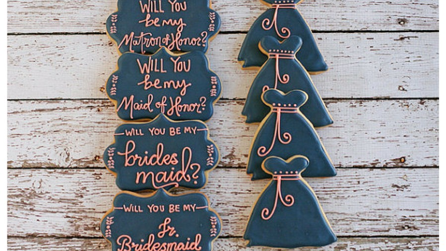 Bridesmaids Proposal Cookies