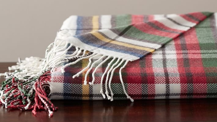 Pottery Barn Benjamin Plaid Throw