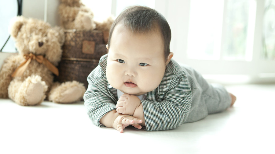 Baby with Chubby Cheeks