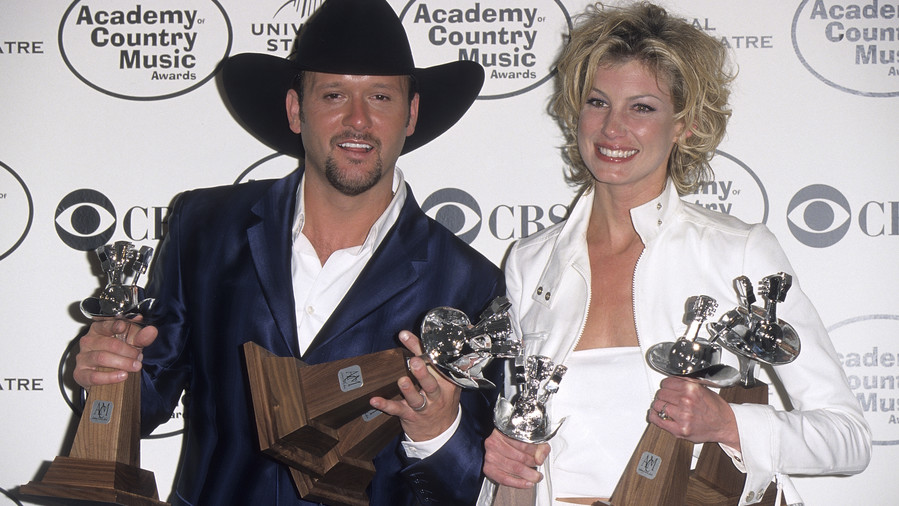Tim and Faith at the 34th Annual ACM Awards