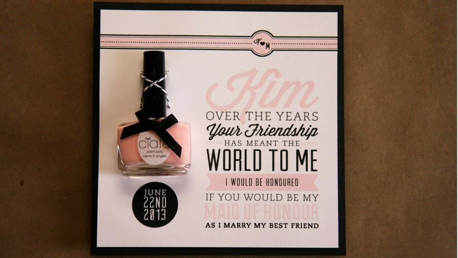 Bridesmaids Proposal Nail Polish Invite
