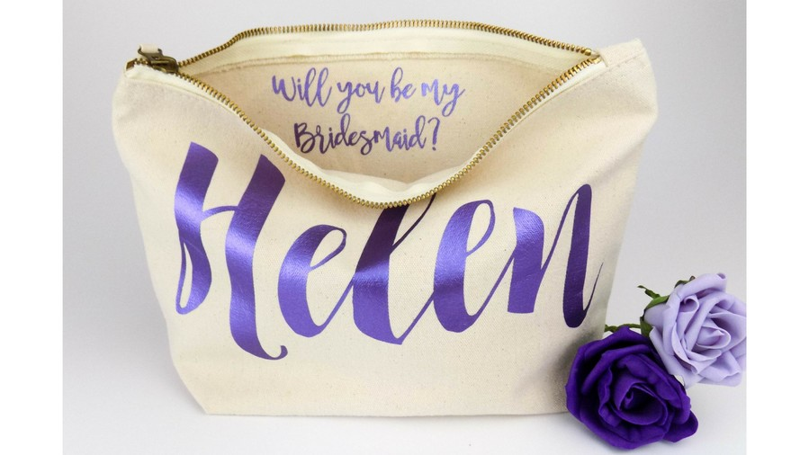 Bridesmaids Proposal Makeup Bag