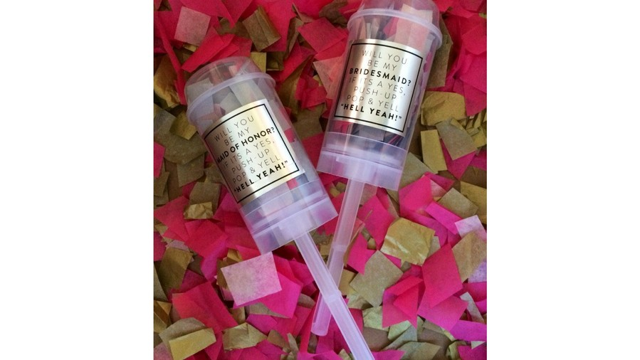 Bridesmaids Proposal Push Pops