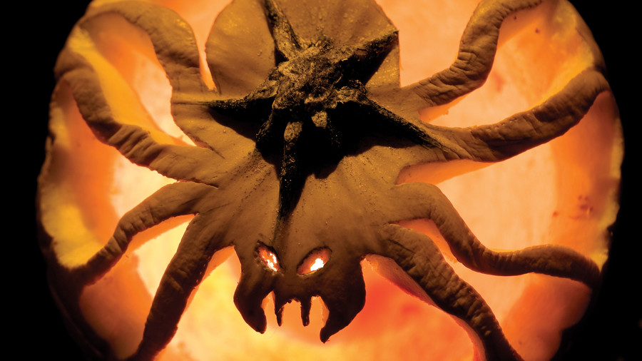 Scary Spider Pumpkin