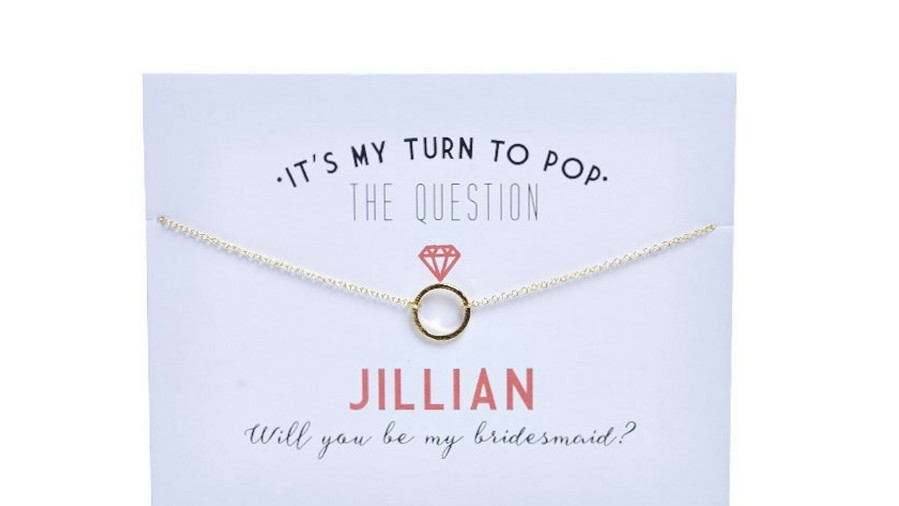 Bridesmaids Proposal Circle Necklace