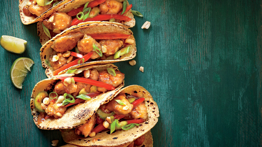 Our 50 healthiest recipes of all time southern living sesame chicken tacos forumfinder Images