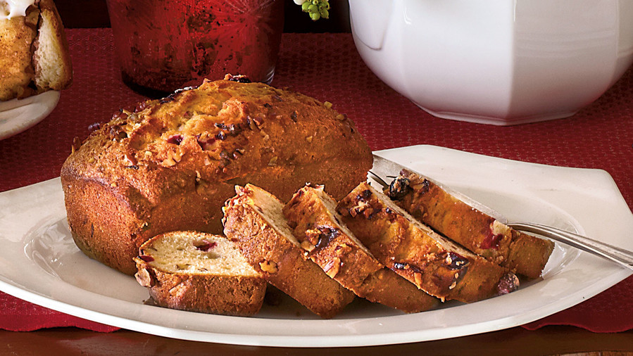 Mini Banana-Cranberry-Nut Bread Loaves