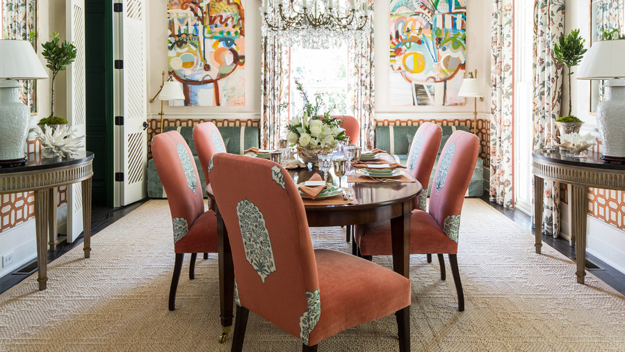 Multi Patterned Dining Room