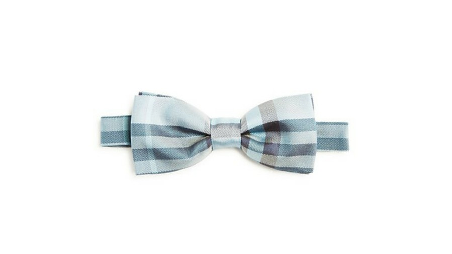 Burberry Plaid Pre-tied Adjustable Bow Tie