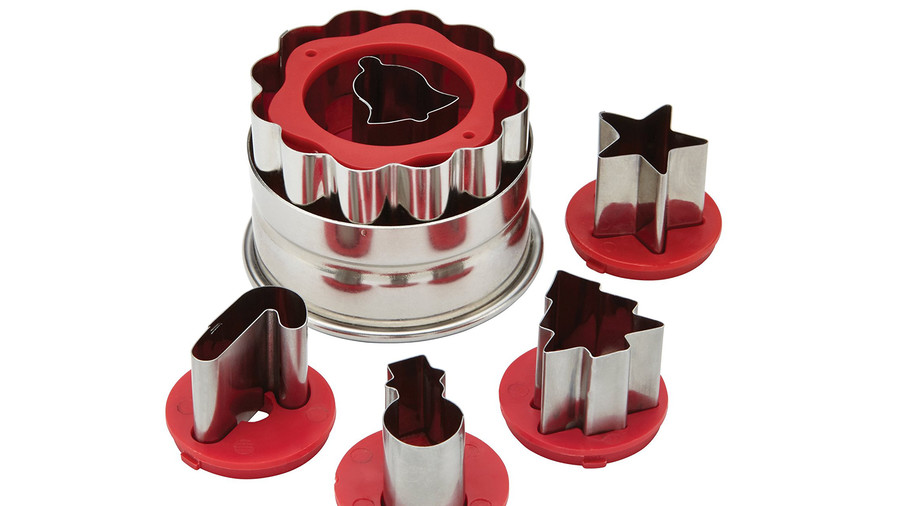 Cake Boss Decorating Tools Holiday Linzer Cookie Cutter Set
