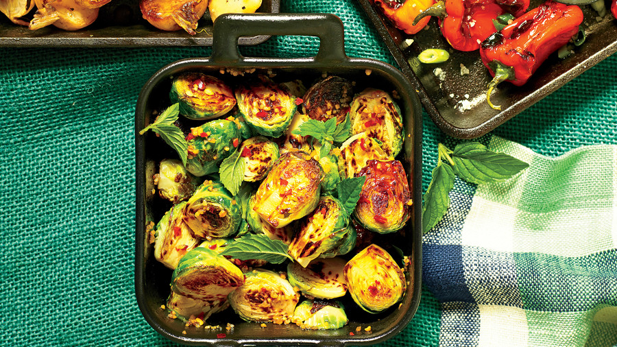 Cast-Iron Blistered Brussels Sprouts