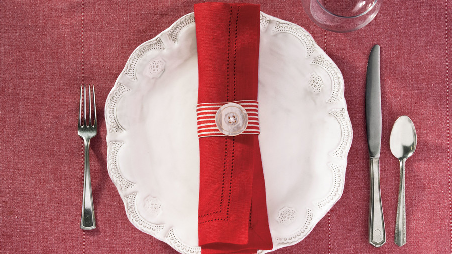 Girls Christmas Dinner Napkin Ring Ideas