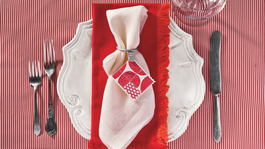 Christmas Supper Club Napkin Ring Ideas