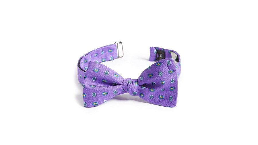 Kentucky Derby Bow Tie Gitman Paisley Silk Bow Tie