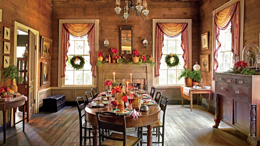 Christmas Dining Room christmas in the dining room - southern living
