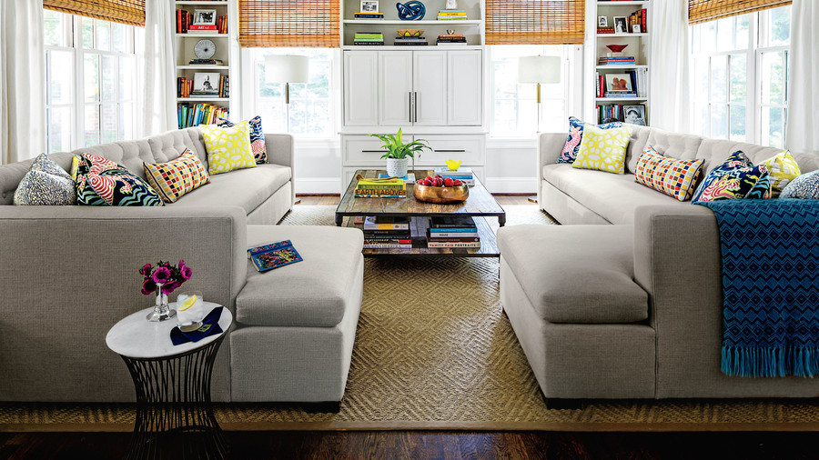 Symmetrical Couches Living Room