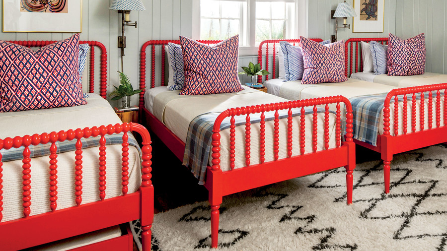 Bunkroom with Red Beds