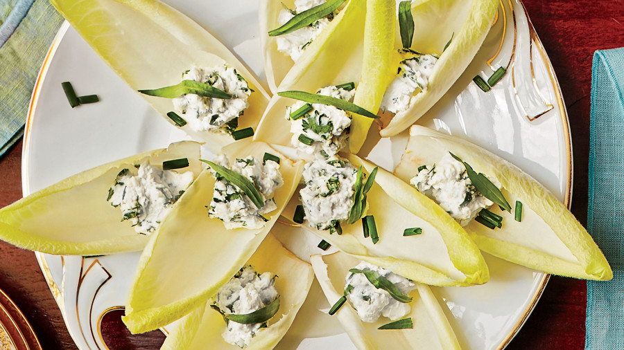 Etizer Stuffed Endive With Herbed Goat Cheese