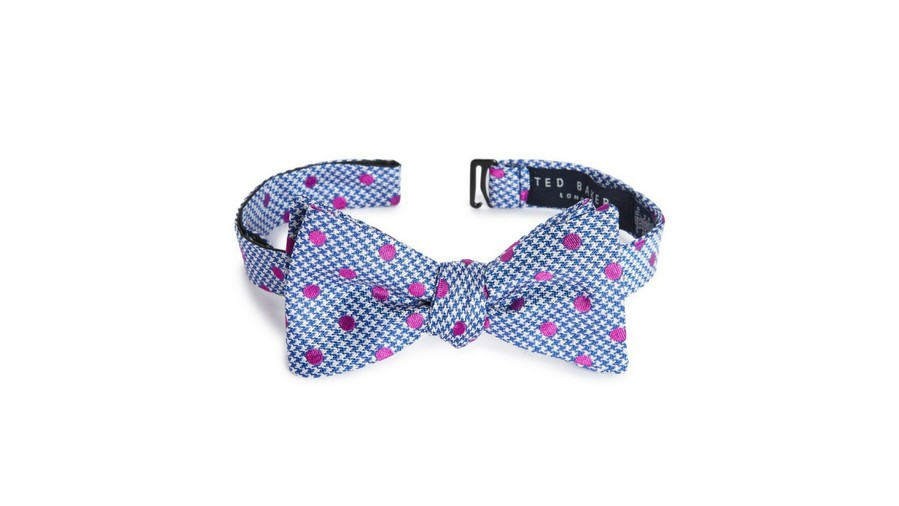 Ted Baker Houndstooth Silk Bow Tie