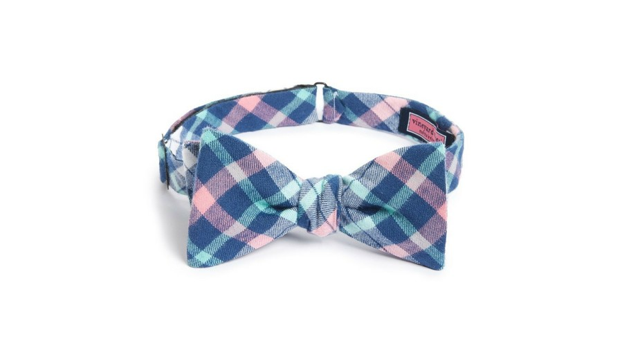 Kentucky Derby Bow Tie Vineyard Vines 'Hawes Pond' Plaid Silk Bow Tie