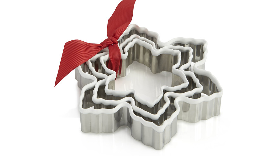 White Grip Snowflake Cookie Cutters