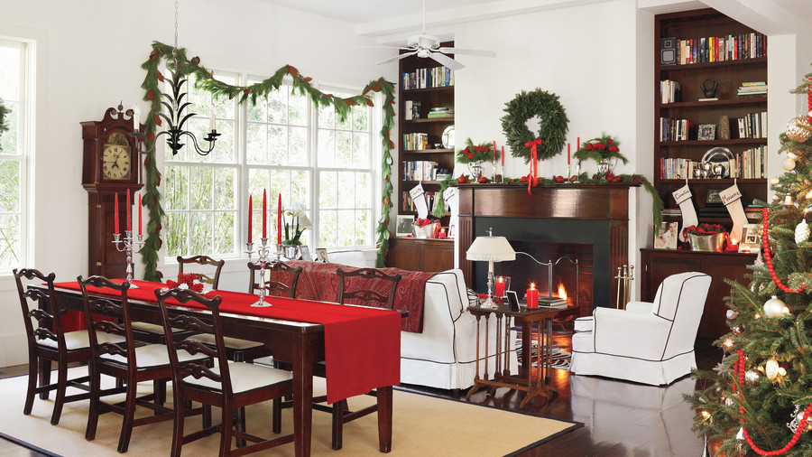 Harrison residence dining room and living room