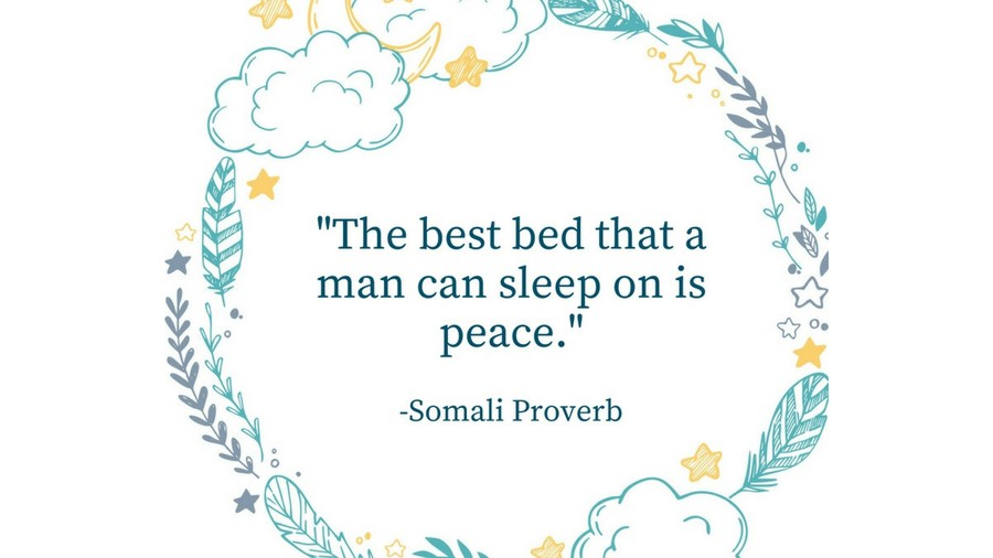 Sleep Tight Quotes Somali Proverb