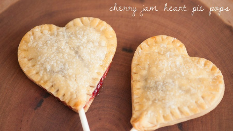 Cherry Jam Heart Pie Pops