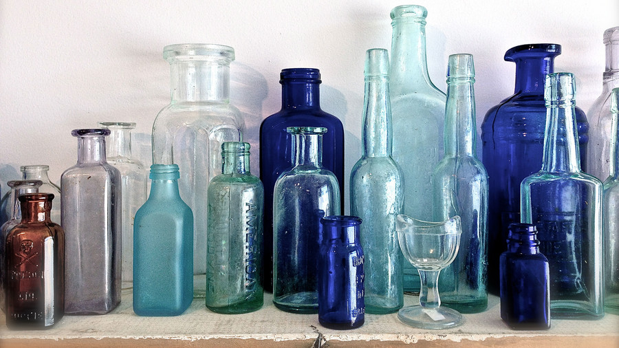 Glass Bottles and Teacups