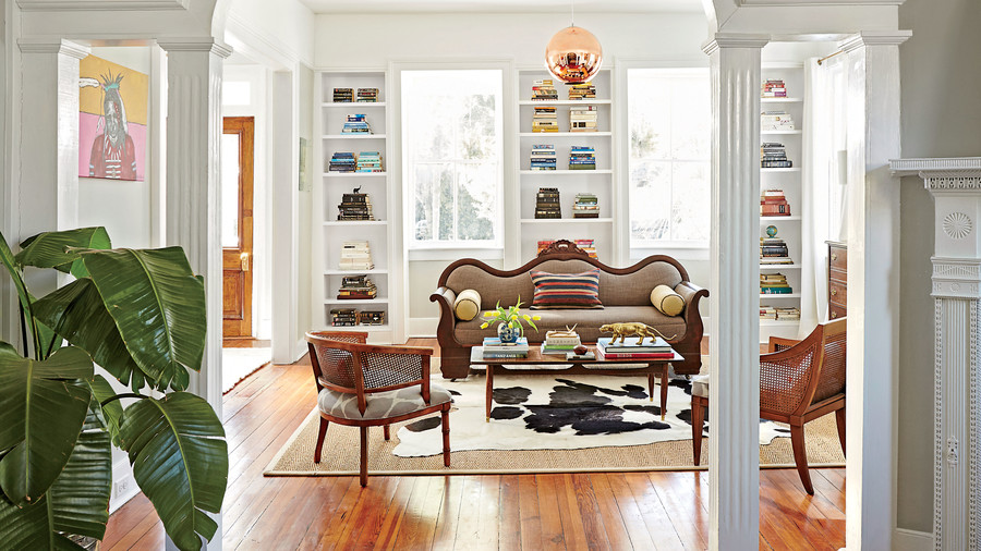 Charleston Victorian Living Room After
