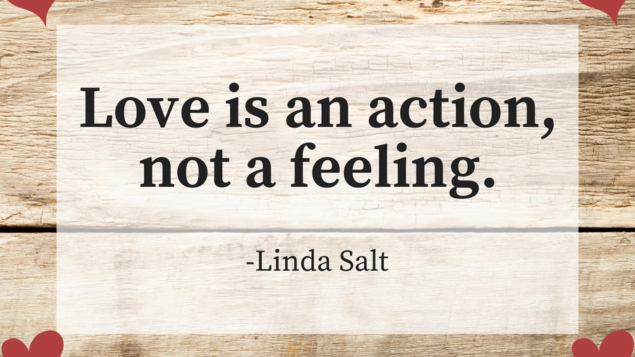 On acting in love