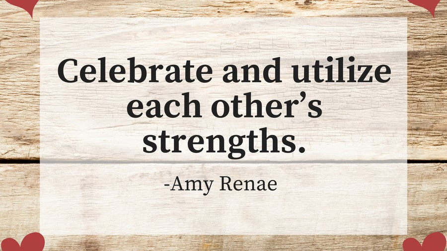 On celebrating each other