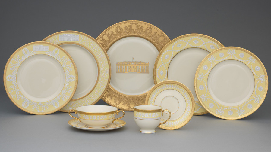 Gold China with White House Image & Presidential China Fit for Kings Queens and the First Families ...