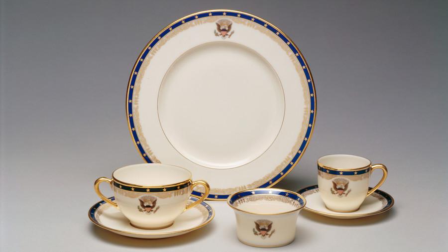 Navy and Gold Stars Presidential China