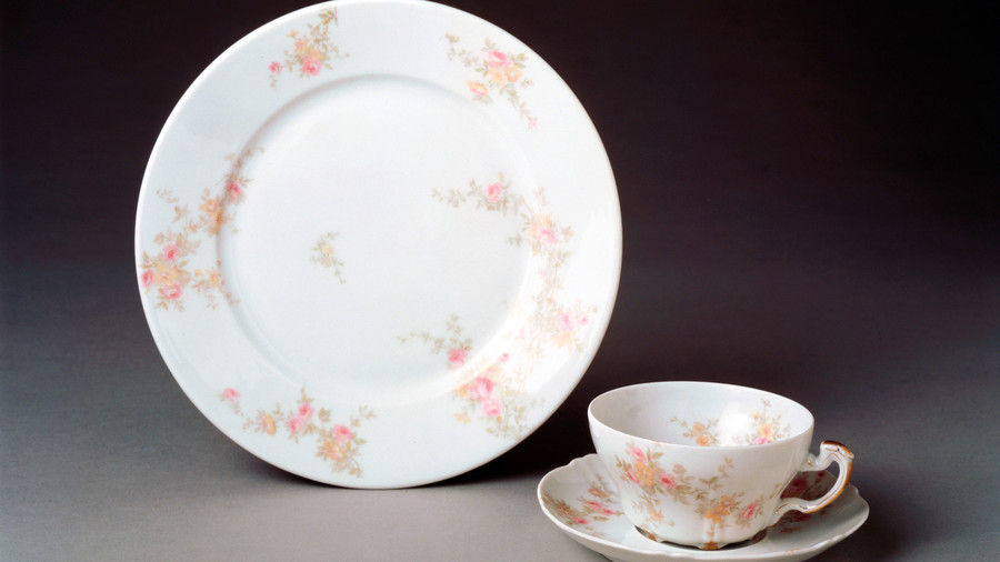 Presidential China With Pink Roses
