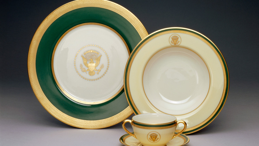 Green and Gold Presidential China