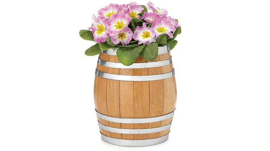 Pots for Indoor Plants whiskey barrel