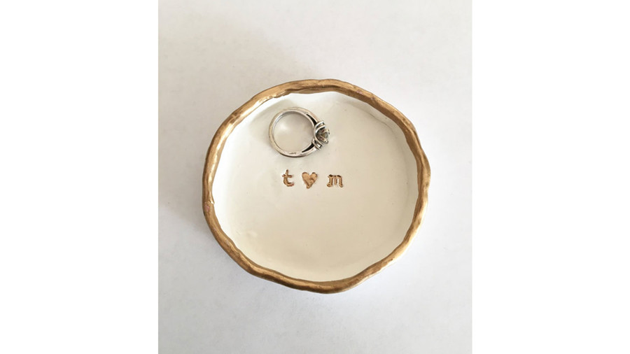 Personalized Clay Ring Dish
