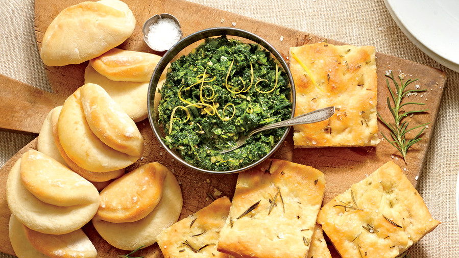 Golden Globe Appetizers Turnip Green Pesto